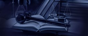 Gavel and scale header background